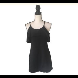 Susana Monaco Black Ruffle Top / Size Small